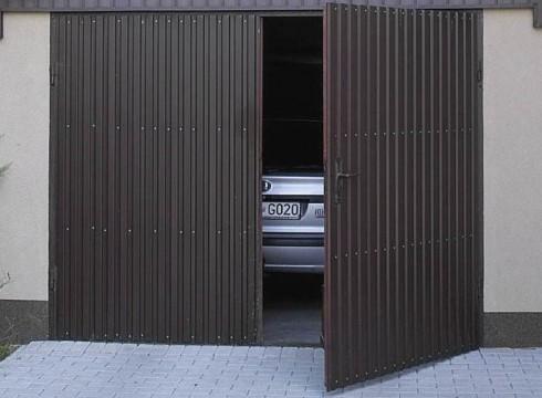 гаражные вороты распашные